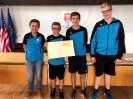 Empfang der U16-Tennis-Jungs im Rathaus